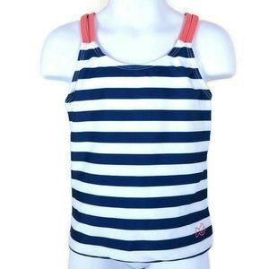 PRODOH UPF 50 Blue Striped Tankini Top Girls 6